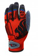 rukavice U-POWER BIKER GP, orange fluo