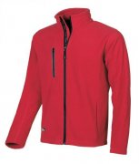 mikina fleece WARM ENJOY, red magma