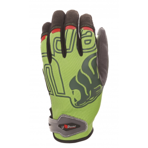 rukavice U-POWER BIKER GP, green fluo